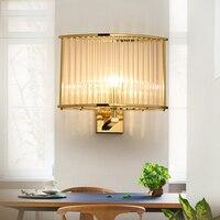 Creative simple corridor between the living room Wall Lamps bedroom bedside LED crystal wall lamp ZL237 LU7108