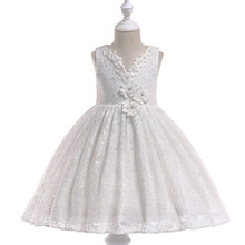 2019 Flower Girl Dresses For Weddings Ball Gown Cap Sleeves Tulle Bow Lace First Communion Dresses For Little Girls white lace pink tulle ball gown flower girls dresses for weddings tulle lace formal kids wear for party communion dress