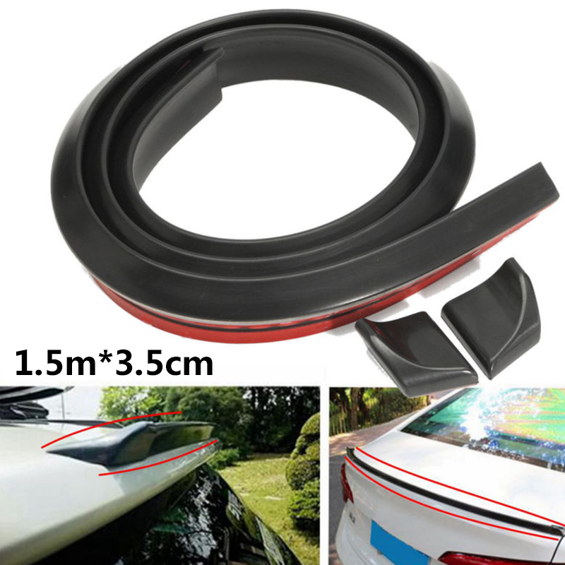 New 4.9FT 1.5M Universal Car Roof Trunk Spoiler Wing Lip Trim Sticker Front/Rear-in Spoilers & Wings from Automobiles & Motorcycles