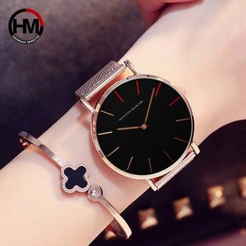 Vrouwen Horloges Mode Casual Japan Quartz Waterdicht Top Luxe Merk Rvs Mesh Band Dames Horloges