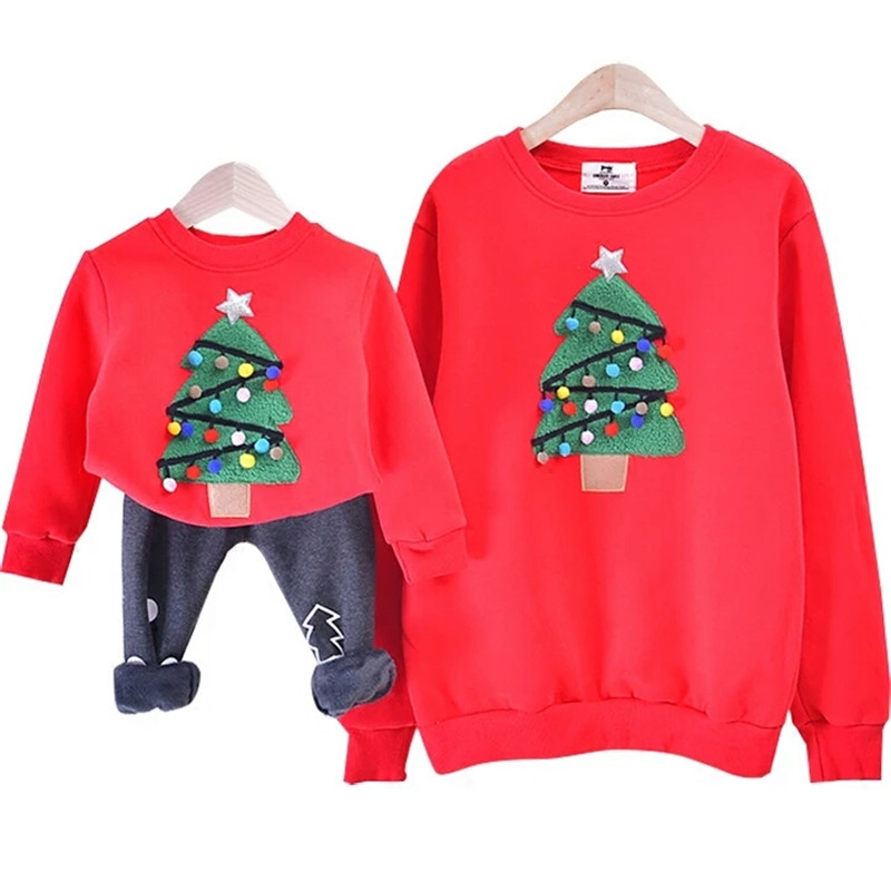 3f04b1a0d Family Matching Outfits 2018 Winter christmas sweaters family Tree ...