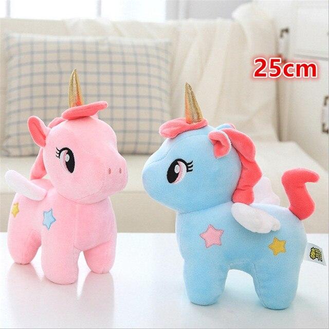 25 cm de peluche de juguete de bebé niños apaciguar almohada muñeca de peluche de juguete regalos de cumpleaños para niñas los niños