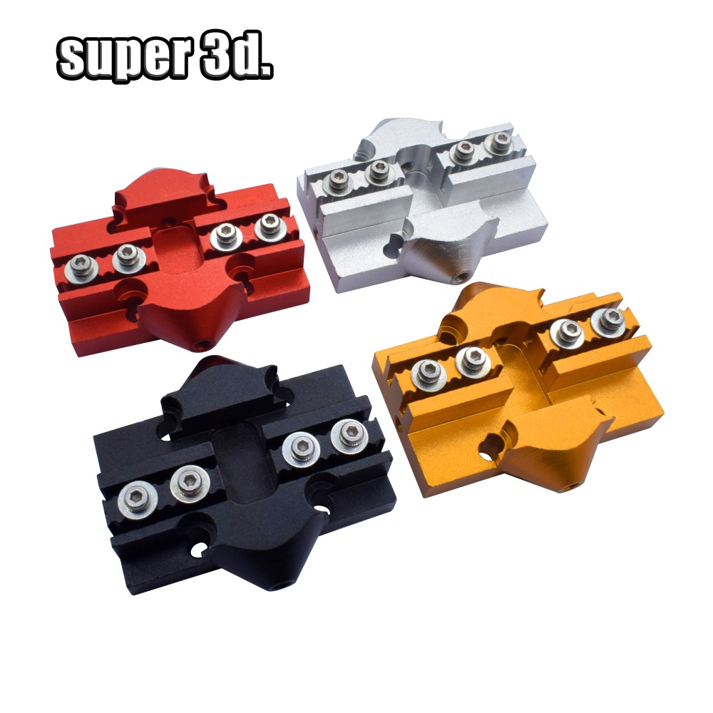 4pcs 3D Printer Kossel Effector Carriage Aluminum Delta Mini Kossel Slider M3 / M4 With Screw Tackle For Closed Loop Belt
