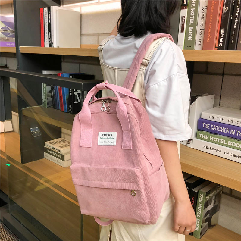 New trend female backpack fashion College school bagpack Harajuku travel shoulder bags for teenage girls mochilas mujer 2019 image