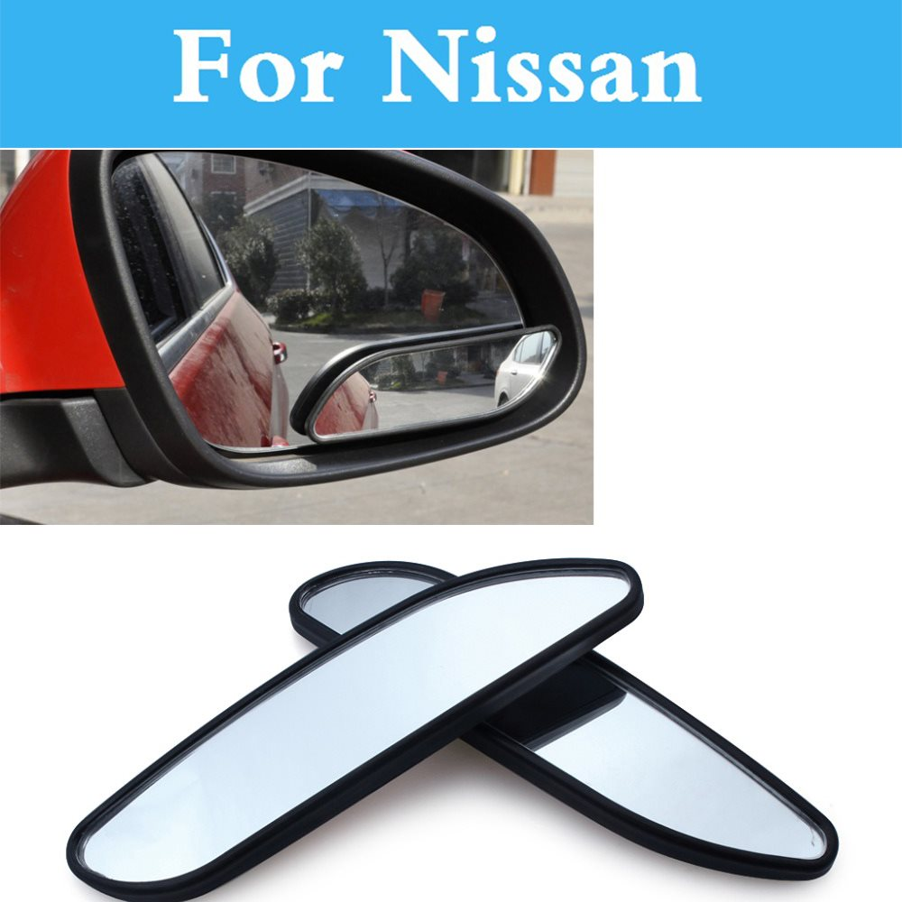 2pcs car wide angle convex blind spot mirror parking for nissan pixo president pulsar pathfinder patrol