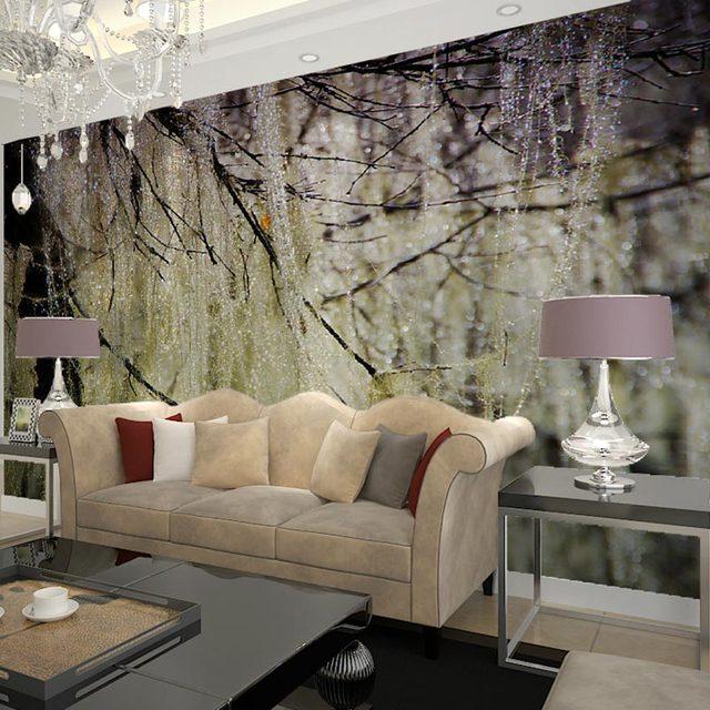 living room wall murals. Home Decor Behang Wall Murals Living Room Bedroom TV Papers 3D Nature  Tree Photo