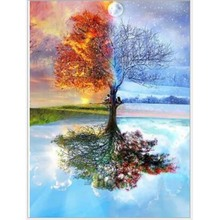 Pretty DIY Diamond Drawing Painting Colorful Trees  Mosaic Cross Stitch Drill Embroidery Decoration