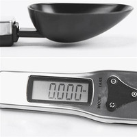 300g/0.1g Portable LCD Digital Kitchen Spoon Scale 1