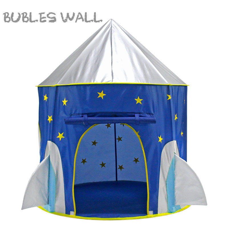 differently 0bec2 f20e3 US $25.6 20% OFF|Children Play Tent Space Rocket Castle Kids Foldable Pop  Up Playhouse Best Indoor Outdoor House Toy Boys Girls Baby Toddler Gift-in  ...