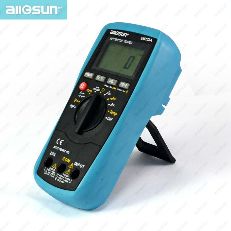 all-sun EM133A Digital Automotive Multimeter 05-20ms Automotive Scanner 4-5-6-8CYL Automotive Electrical Tester 0.5%-99.9%