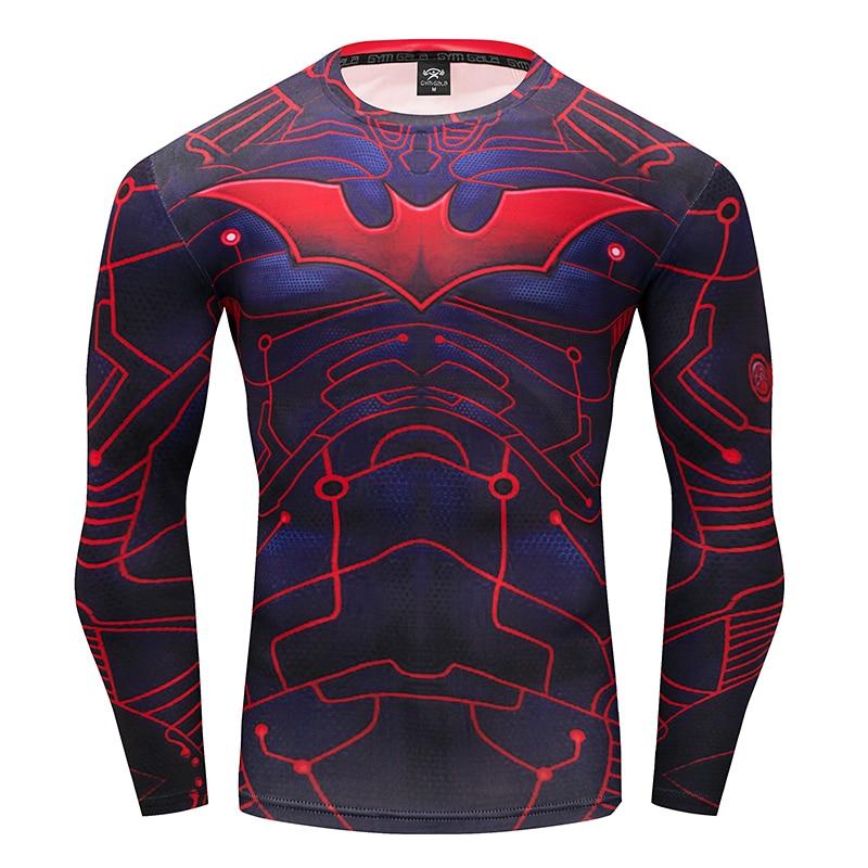 Gyms men's t-shirt 3D brand clothing Batman fitness t-shirt Summer work out Fitness stretch casual men's wear fitness t-shirt