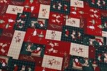 Neue Ankunft! Schöne Platz Design Rentier & Weihnachtsmann Weihnachts X'mas Baumwollgewebe