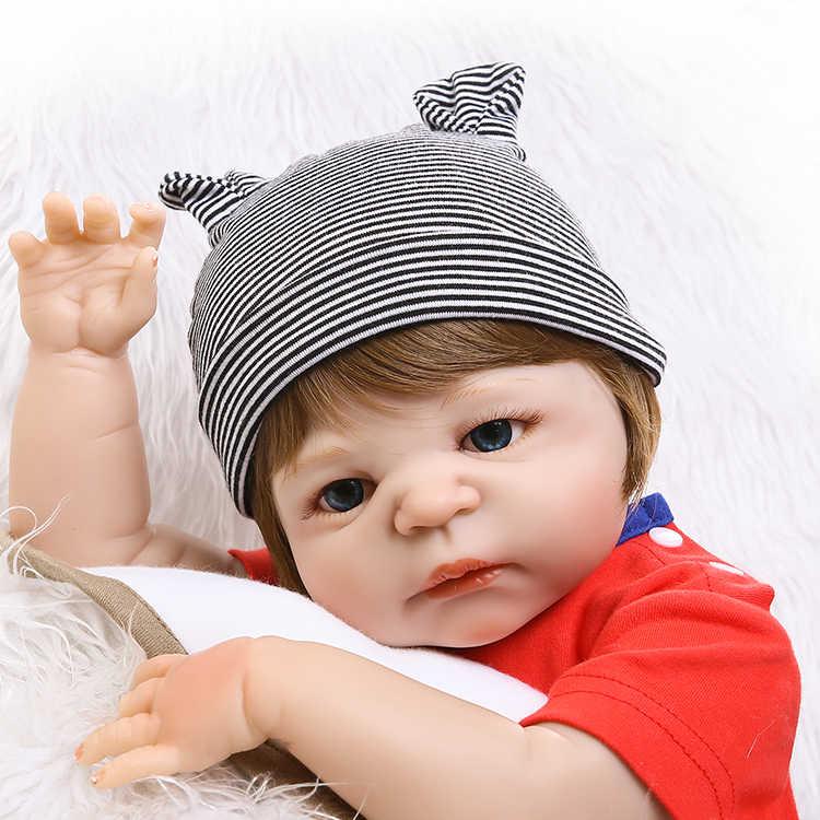 """NPK 19 """"48 см мягкие силиконовые Reborn Baby Doll Игрушки для девочек реалистичные Дети Boneca полный винил модные куклы Bebes возрожденная менина"""