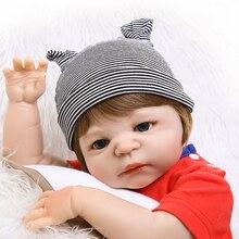 NPK 19″ 48cm Soft full Silicone Reborn Baby Doll Girl Toys Lifelike Babies Boneca Full Vinyl Fashion Dolls Bebes Reborn Menina