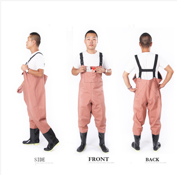 1mm Waterproof Breathable Chest Waders Fishing Boots Men Women Waders respirant Boot Black Fishing Pants Shoes cuissardes peche