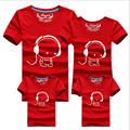 2016 New Family Look Headset T Shirts 9 Colors Summer Family Matching Clothes Mom & Dad & Son & Daughter Cartoon Outfits, qz13