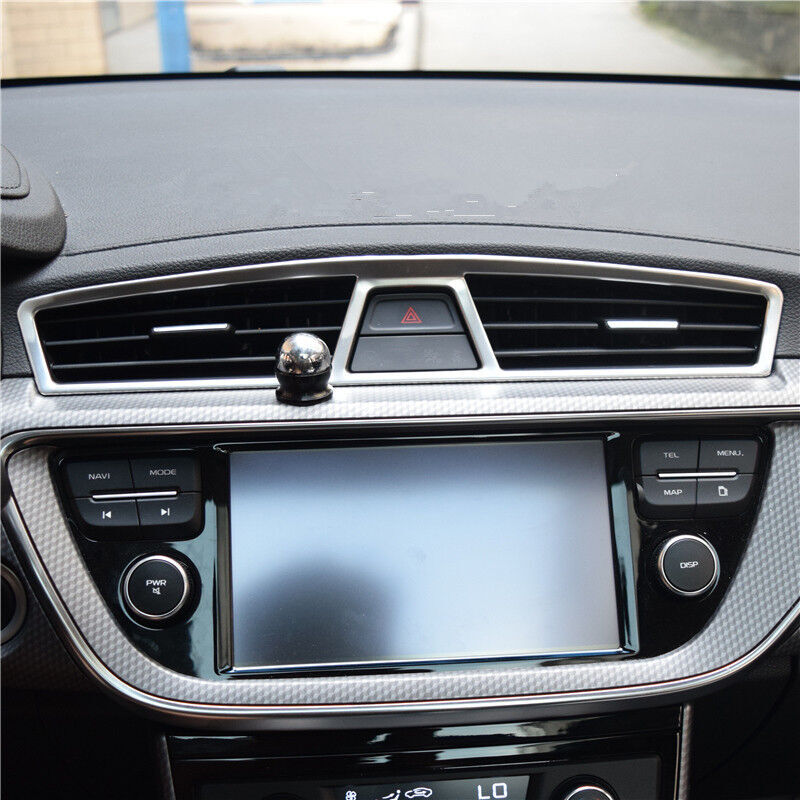 For <font><b>Geely</b></font> <font><b>Atlas</b></font> 2016 2017 2018 Stainless steel Air conditioning Outlet frame Parking lights Switch button Panel Cover Trim image