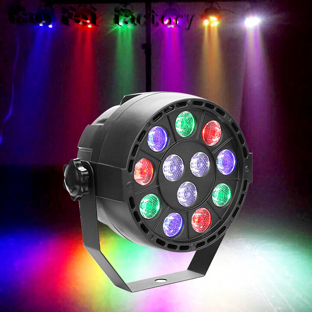 High Quality 12 Led Par Stage Light  LED RGBW 8 DMX Dream Colour Wide Use For Club Dj Show Home Party Ballroom Bands NEW