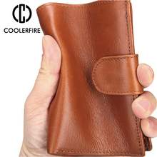 New Retro Genuine Leather Men Wallets Short Design ID Card Holder  Male Wallet Casual Top Quality Men Purse PJ055 цены
