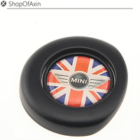 Gray Laurel Wreath Black Finish Engine Start Stop Button Push Cap Cover For 2nd MINI Cooper