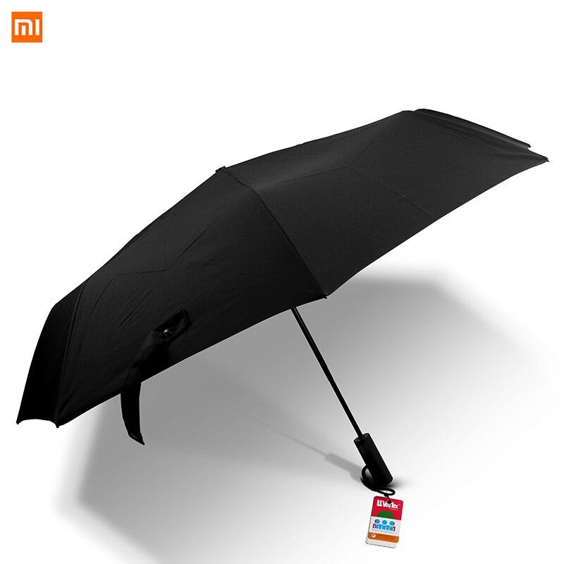 Xiaomi mijia automático um-brella para dias ensolarados e chuvosos alumínio à prova de vento luz solar-sombreamento de calor isolante anti-uv