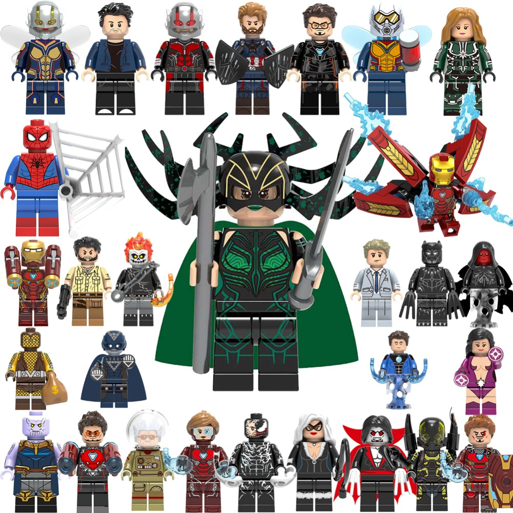 LegoING Friends Cartoon Figures DC Super Heroes Marvel Batman Avengers Endgame Building Blocks Model Compatible With Legoes(China)