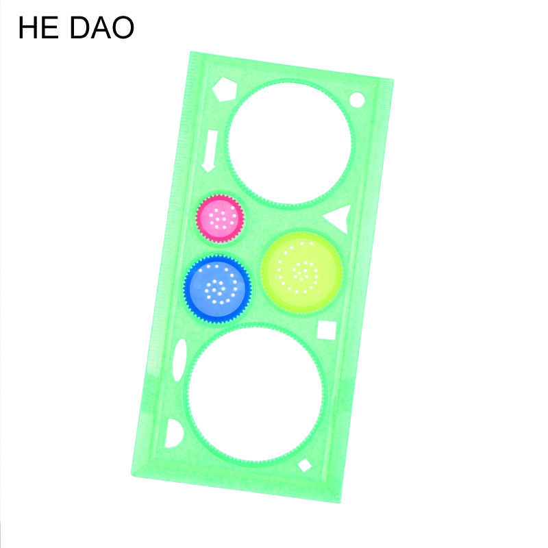 1 Pc Spirograph Multifunctional Geometric Ruler Drafting Tools Stationery Students Office Supplies