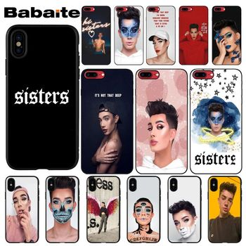 Babaite James Charles Newly Arrived Black Cell Phone Case for iPhone 5 5Sx 6 7 7plus 8 8Plus X XS MAX XR image