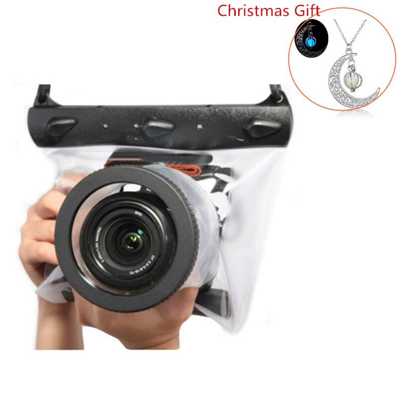 Sous-marine 20 M Étanche Caméra Sac Haute Qualité Sec Logement Cas pour Nikon Canon Sony Plongée Poche REFLEX DSLR Caméra cas