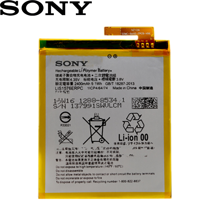 SONY New Original LIS1576ERPC 2400mAh Battery For Sony Xperia M4 Aqua E2353 E2303 E2333 E2306 E2312 E2363 AGPB014-A001 Phone