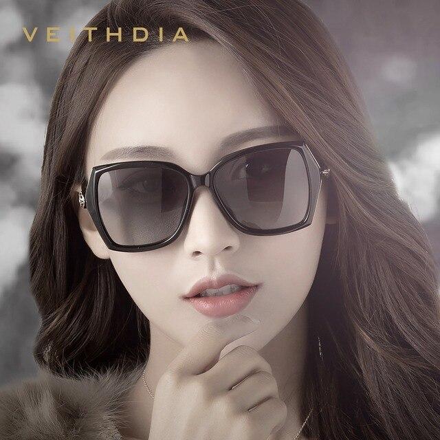 VEITHDIA نظارة شمسية للسيدات ذات تصميم كلاسيكي مستقطب نظارة شمسية فاخرة للسيدات V3039