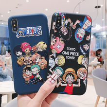 Cute cartoon One Piece Luffy Pirates Colored Drawing Soft TPU Case For iPhone XS XR MAX X 6 6S 7 8 Plus