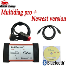 Новейшее vd tcs cdp Multidiag pro+. R0 dvd программное обеспечение obd obd2 диагностическое сканирующее устройство с Bluetooth USB автомобили грузовик