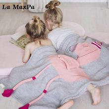 Cute Baby Blankets Infant Kids Flamingo Soft Warm Wool Swaddle Kids Bath Towel Lovely Newborn Baby Bedding Props Baby Blankets