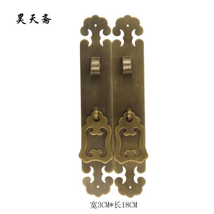 [Haotian vegetarian] new Chinese classical furniture antique bronze classic handle handle Plum wishful money chinese folk classical bronze desert twin peaks camel llama statue