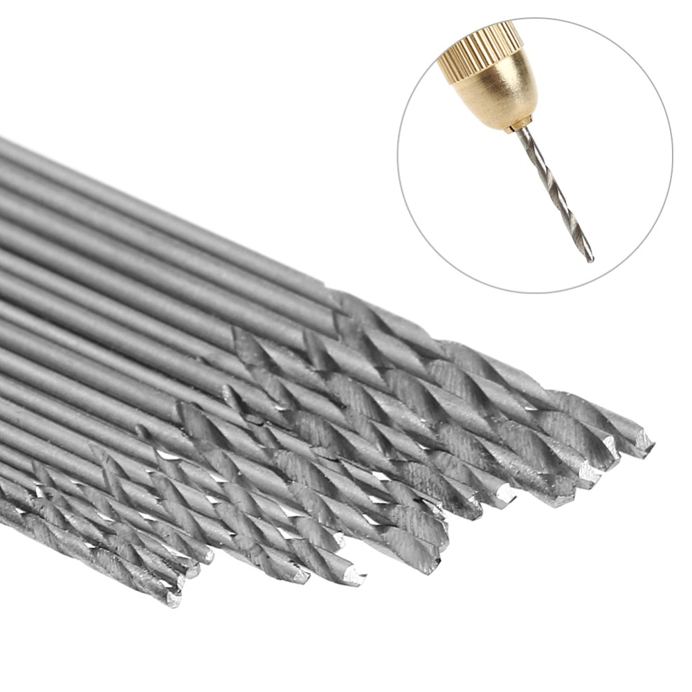 16Pcs HSS White Steel Twist Drill Bit Set 0.8-1.5mm For Electric Grinding Drills Puncher Power Tools New 2017 13pcs lot hss high speed steel cobalt drill bit set 1 5 6 5mm twist drills for thick iron and aluminum 3% co