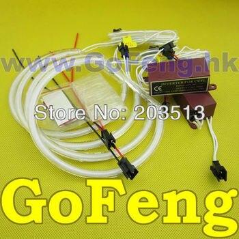 CCFL 2*106MM + 2*140MM CCFLAuto Ángel ojos anillo kit azul blanco anillo de Halo para VW Volkswagen Golf4 Golf 4 HK POST envío gratis