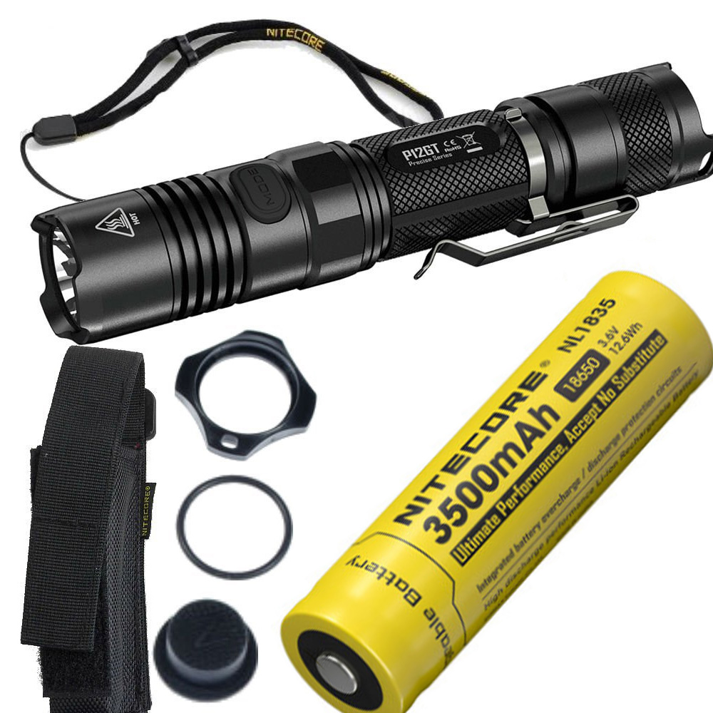 NITECORE P12GT Tactical Flashlight black CREE XP-L HI V3 LED max 1000LM beam distance 320 meter outdoor torch handheld light nitecore p12gt cree xp l hi v3 1000 lumens led flashlight for gear military rechargeable led tactical flashlight torch