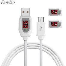 FanMao Мирко Usb-кабель СВЕТОДИОДНЫЙ Цифровой Индикатор Тока Напряжение Протектор для IOS Android Зарядное Устройство и Кабель для Передачи Данных Доктор Провода