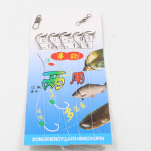 New 5pcs/set High Carbon Steel String ISE Hook Sea Fishing Tackle Lures Hook Soft Bait Accessories For Carp Fishing Tools Allure