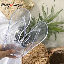 Fashion Women Transparent Flip Flops Slippers Summer Ladies Candy Color Flat Slipper Female Casual Outdoor Slipper Sandals