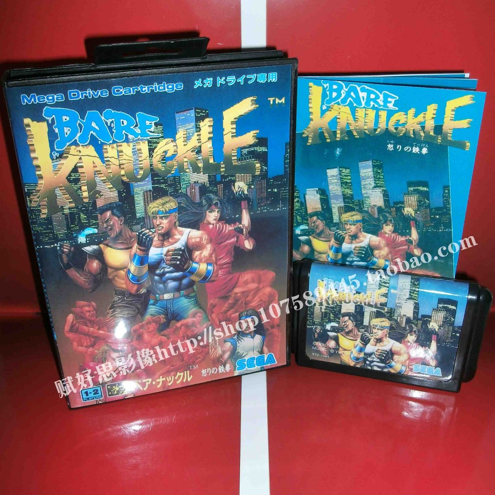 Bare Knuckle Game cartridge with Box and Manual 16 bit MD card for Sega Mega Drive for Genesis