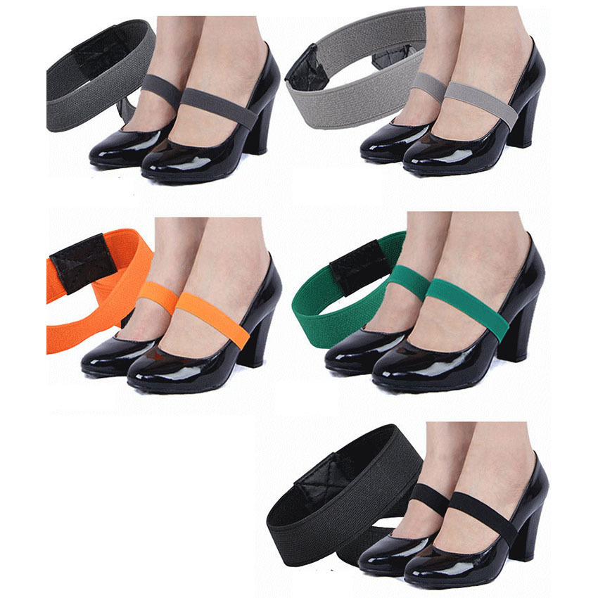 Solid Color Elastic Band For Women Heels Shoe,Shoe Accessory For High Heel Shoelace Bowknot Hot Sale Cheap 1 Pair