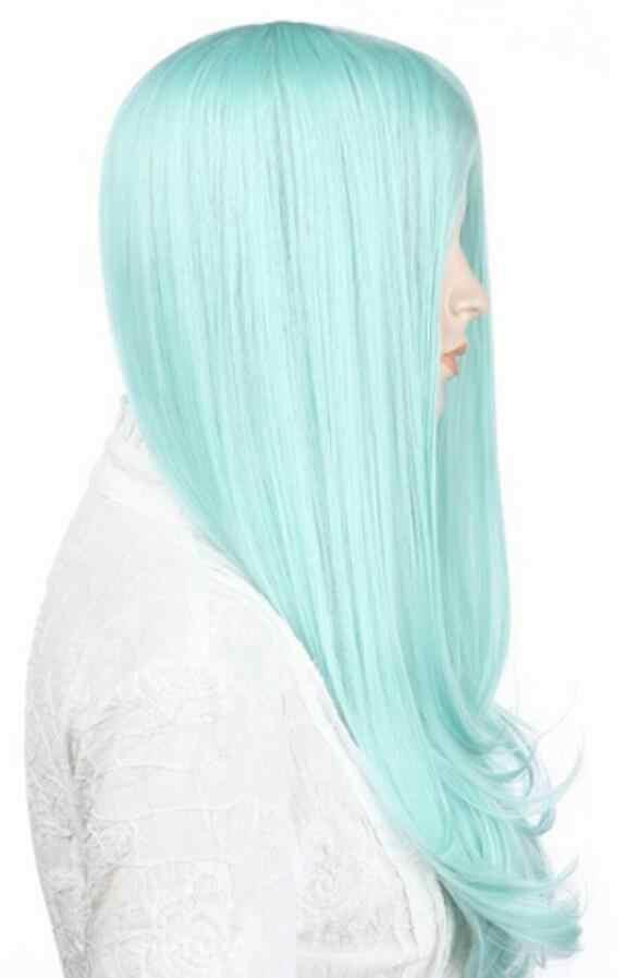 Peluca de moda para mujer peluca recta media larga Cosplay pelucas de fiesta