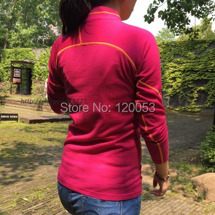 100Australien Merino Ykk Wolle T Damen Rei verschluss Merino ShirtDamen ShirtsSpring ShirtLangarmMit PZiOuXkT