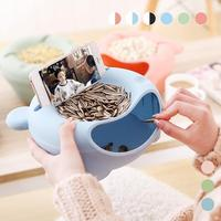 Plastic Melon Seeds Nut Bowl Table Candy Snacks Dry Fruit Holder Storage Box Plate Dish Tray