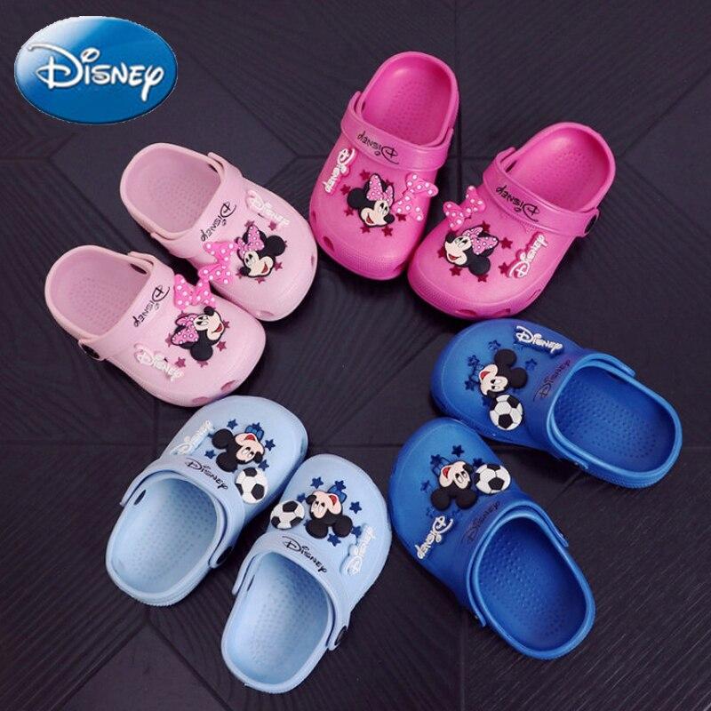 d14b5df75 Disney Micky 2018 sandalias niños niñas niño playa zapatilla niños bebé  lindo dibujos animados para niños zapatos Casual verano EVA antideslizante