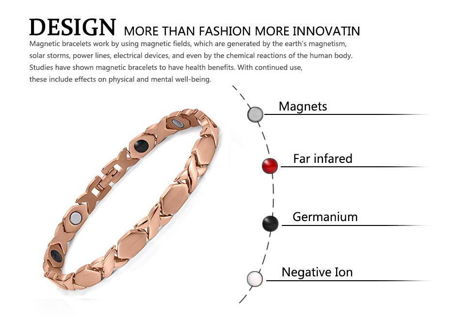 Модный Магнитный титановый браслет welmag для здоровья спортивные