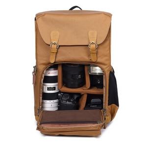 Image 2 - شيك قماش حقيبة الكاميرا المهنية في الهواء الطلق مصور صورة قدرة كبيرة حقيبة مع الحامل ثلاثي الأرجل لكانون/نيكون/سوني