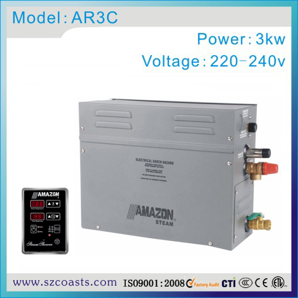 Free Shipping Amazon 3kw 220-240v 50/60hz Small Steam Generator Tm60a Controller For Shower Room